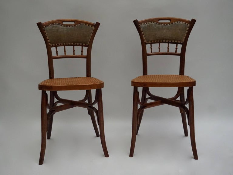 19th Century Great Set of 40 Art Nouveau Chairs, circa 1900 For Sale