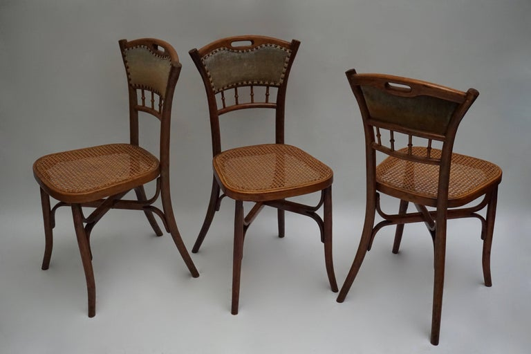 Great Set of 40 Art Nouveau Chairs, circa 1900 For Sale 1