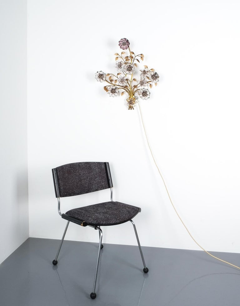 Mid-20th Century Great Single Lobmeyr Sconce or Wall Chandelier, Austria, 1950 For Sale