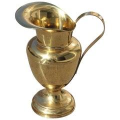 Great Vase Amphora Sold Brass Gold Umbrella Stand Italian Midcentury Design