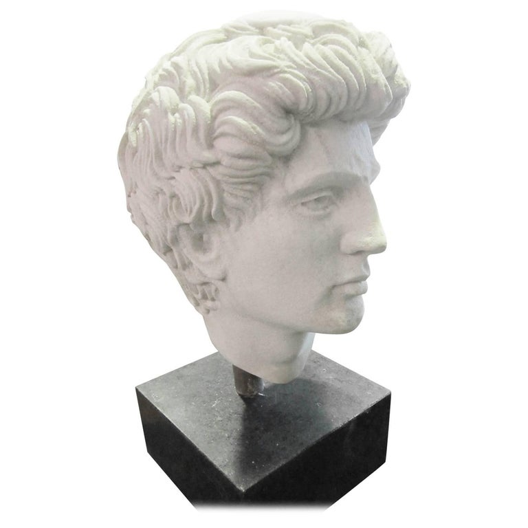 Greco-Roman Style Faux Marble Head For Sale