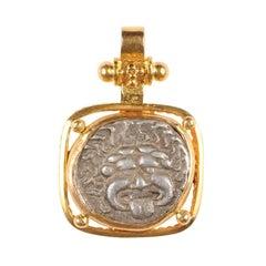 Greek Apollonia Pontika, Ar Drachm Coin Necklace Pendant, Thrace