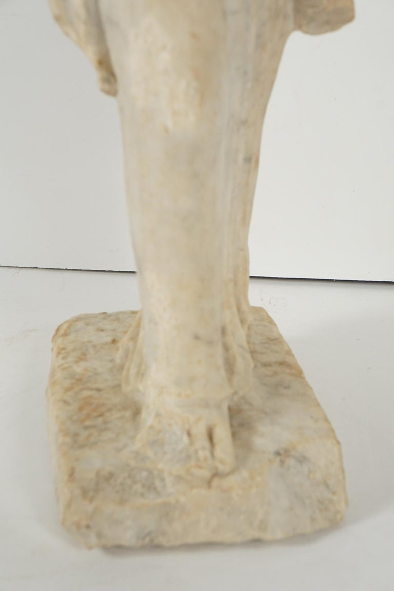Greek Archaistic Style Carved Marble Figure 7