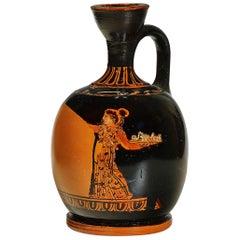 Greek, Attic Red Figure Squat Lekythos by the Meidias Painter