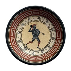 Greek Clay Grand Tour Hanging Plate with Warrior
