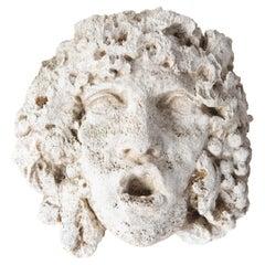 Greek God Cast Stone Garden Wall Ornament