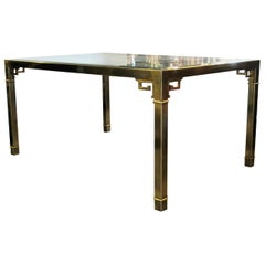 Greek Key Design Brass Dining Table by Mastercraft