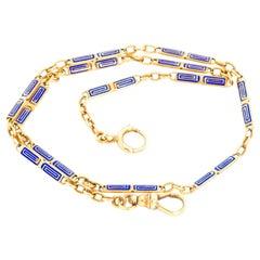 Greek Key Gold Pocket Watch Chain
