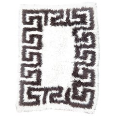 Greek Key Wool Flokati
