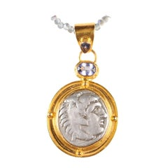 Greek 'Macedonian' Alexander the Great Silver Drachm Coin Necklace