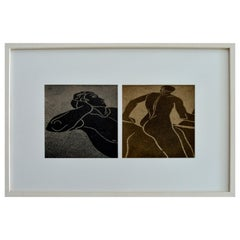 Greek Mosaics, Diptych Figurative Photography Framed