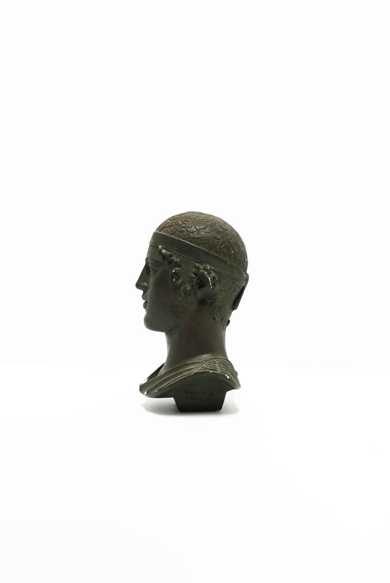 Greco Roman Greek or Roman Head Bust Sculpture, 1965 For Sale