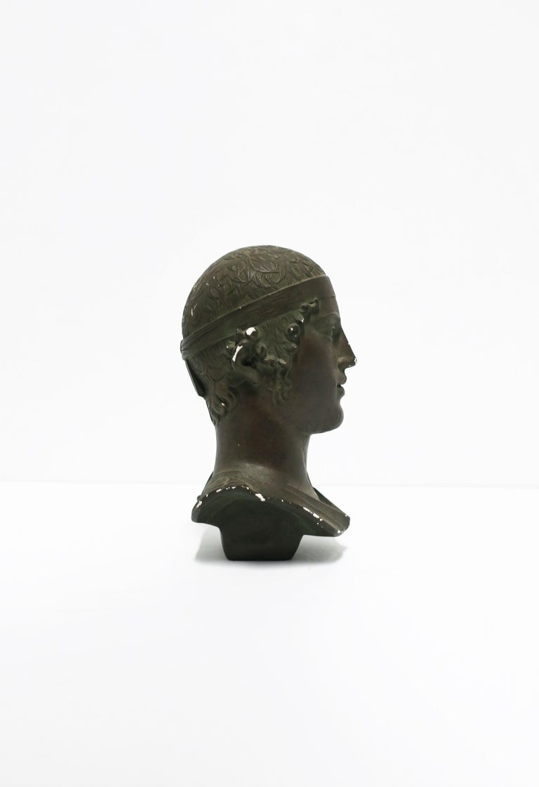 Greek or Roman Head Bust Sculpture, 1965 In Good Condition For Sale In New York, NY