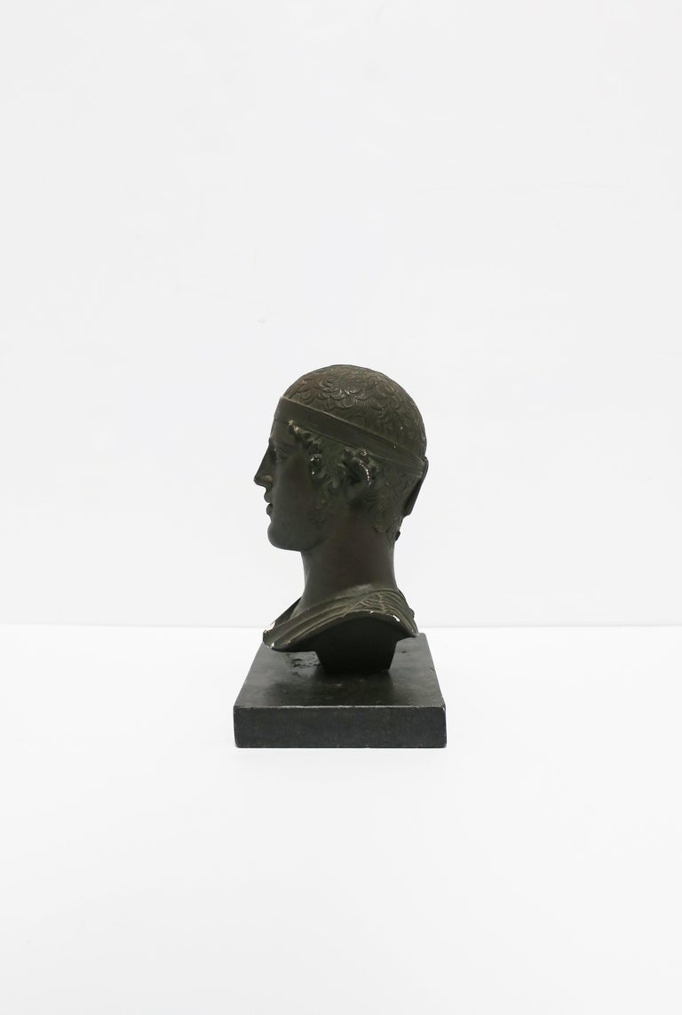 Stone Greek or Roman Head Bust Sculpture, 1965 For Sale