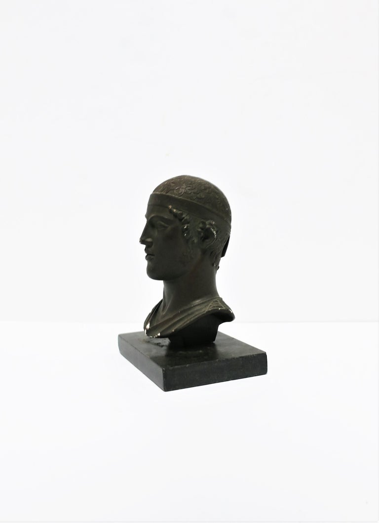 Greek or Roman Head Bust Sculpture, 1965 For Sale 1