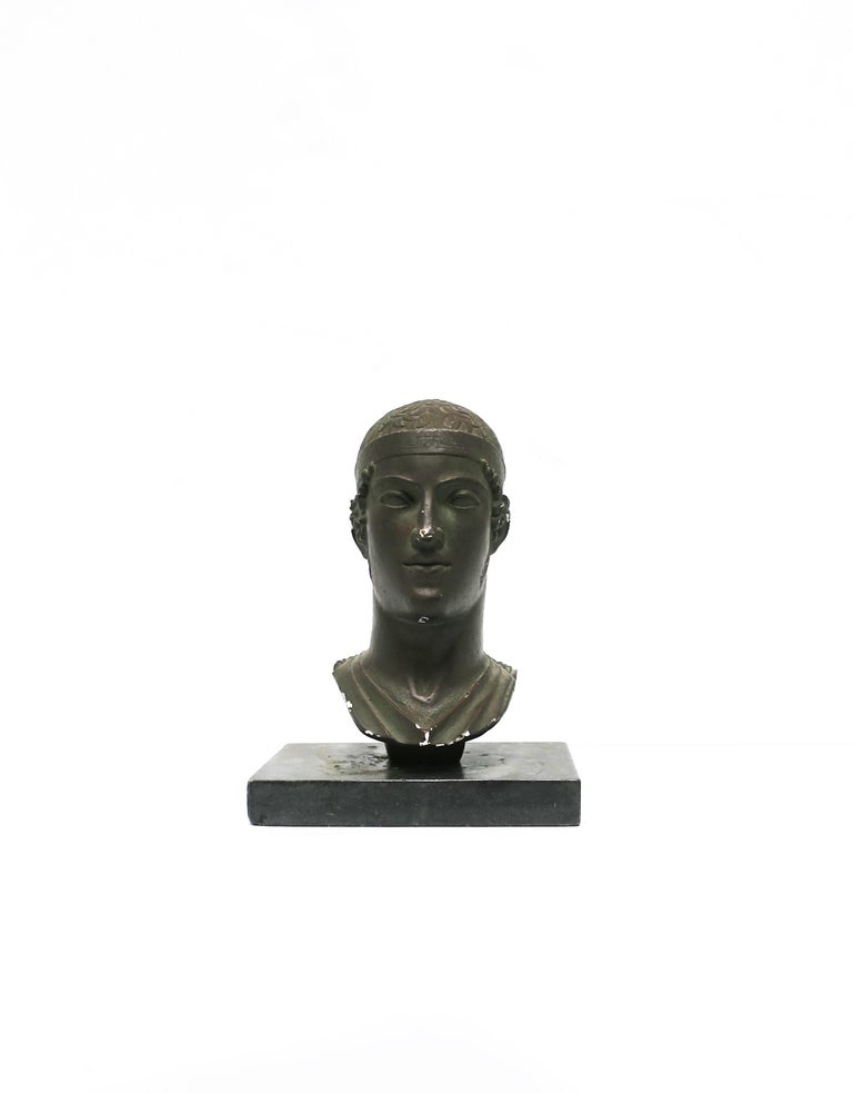 Greek or Roman Head Bust Sculpture, 1965 For Sale 2