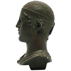 Greek or Roman Head Bust Sculpture, 1965