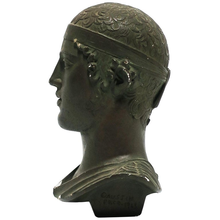 Greek or Roman Head Bust Sculpture, 1965 For Sale