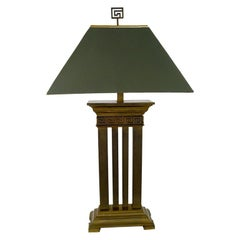 Greek Revival Bronze Columned Table Lamp
