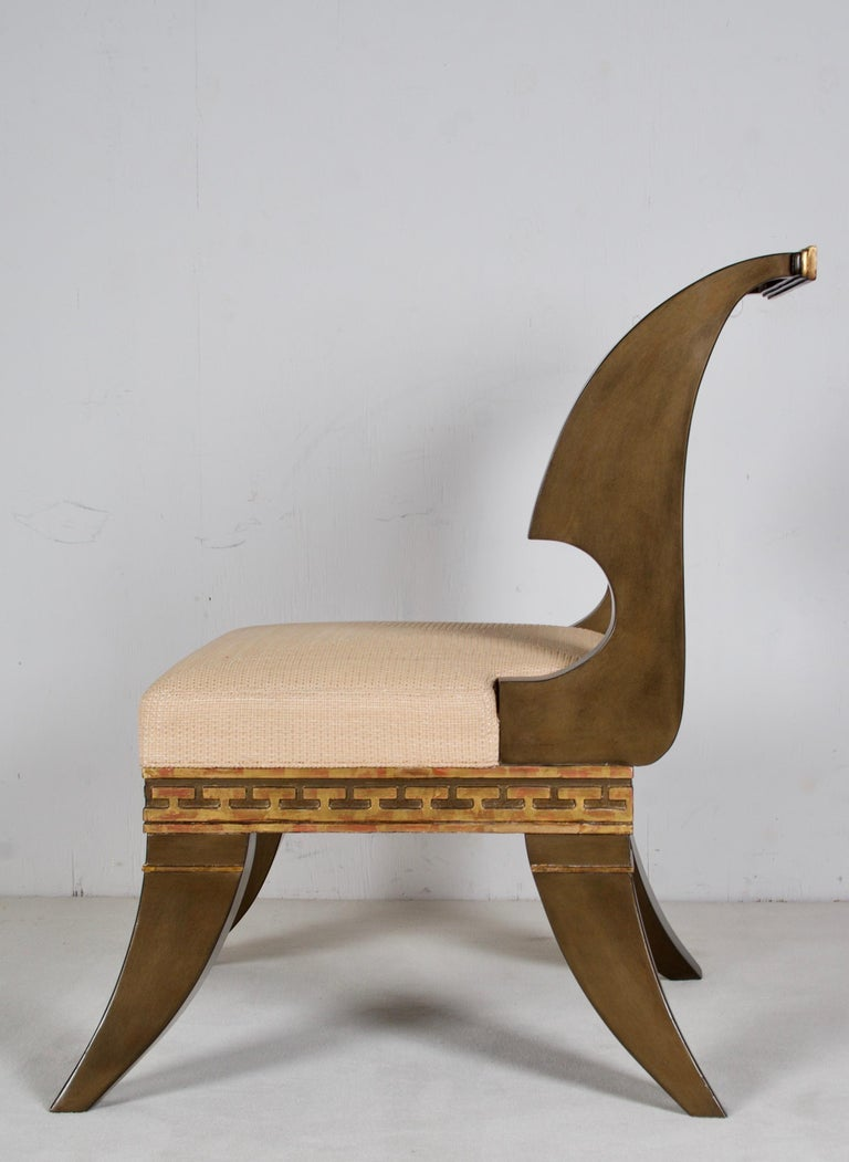Empire Revival Greek Revival, English Empire Chairs, after a Model by Thomas Hope For Sale