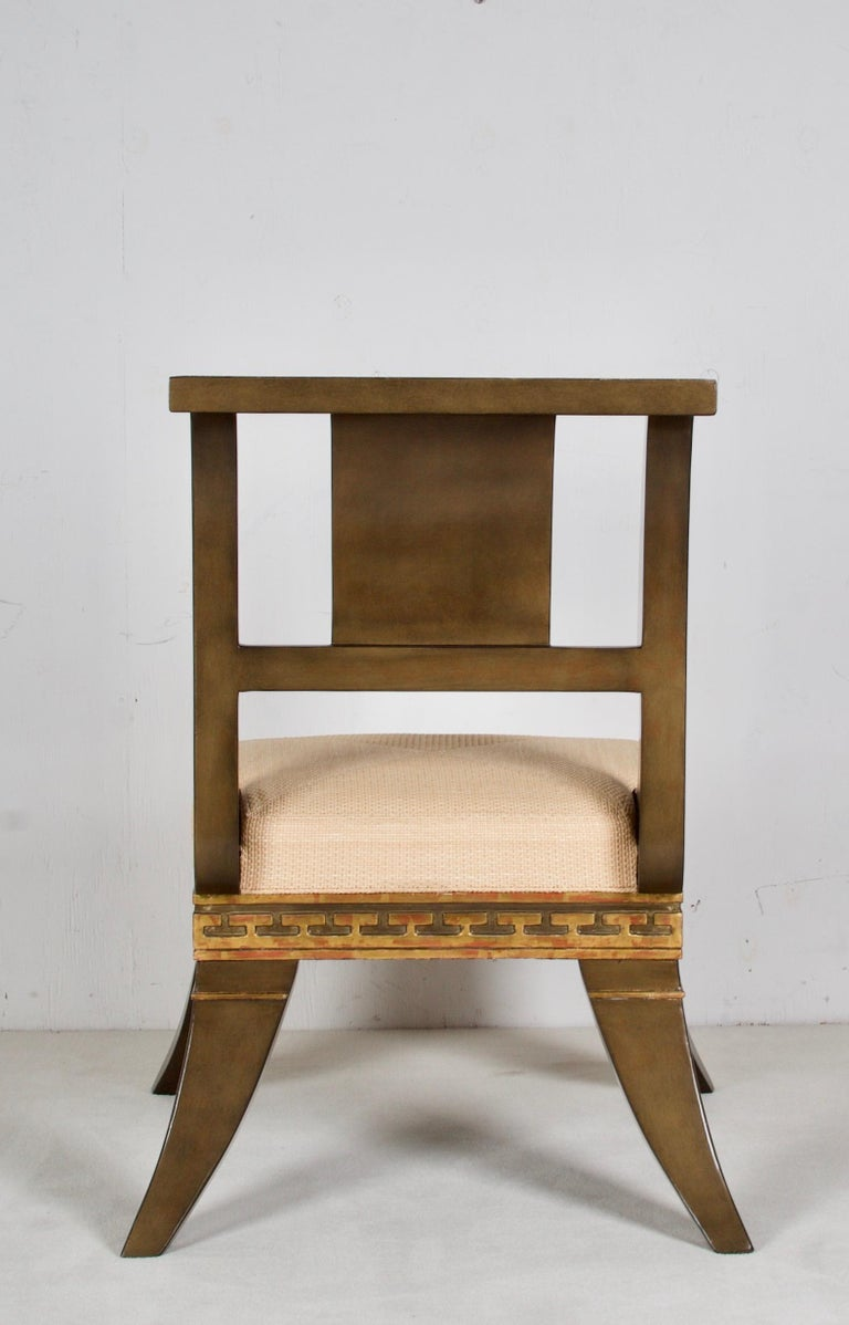 American Greek Revival, English Empire Chairs, after a Model by Thomas Hope For Sale