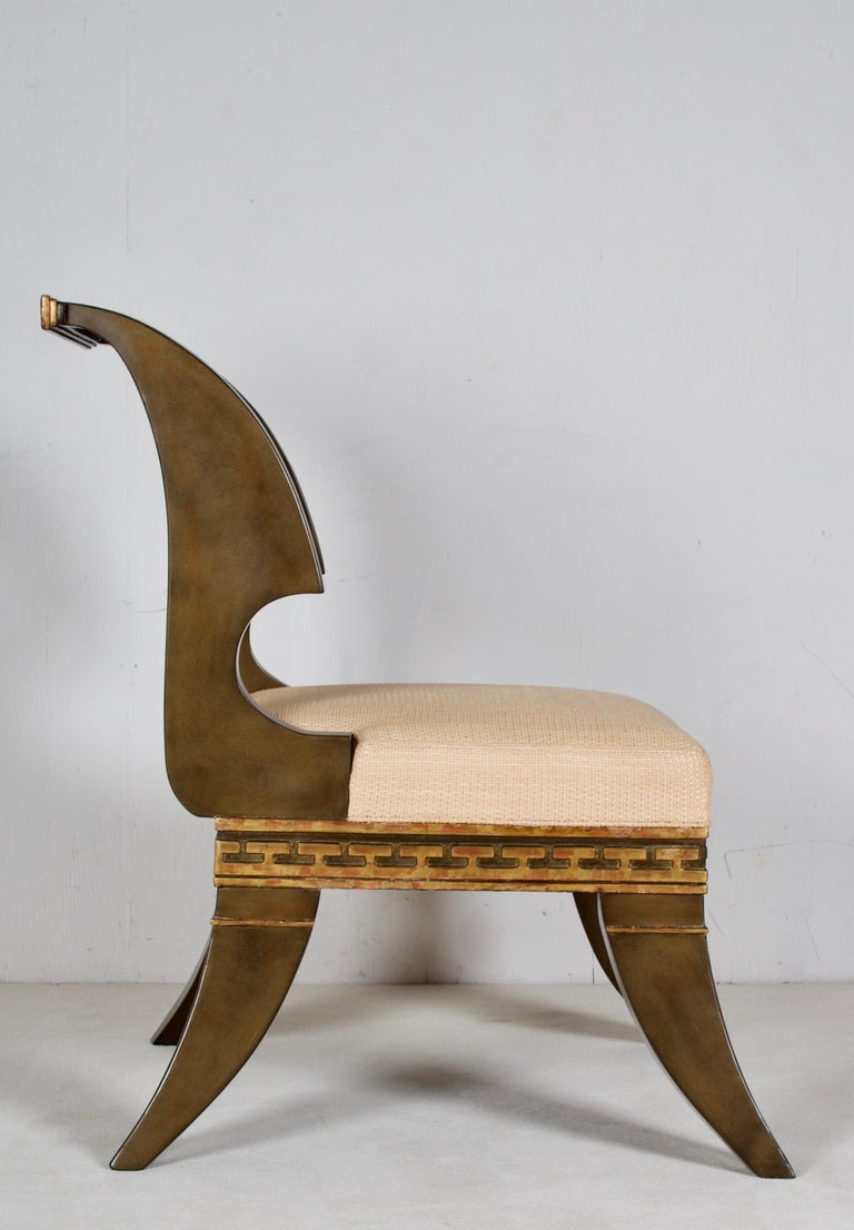 Painted Greek Revival, English Empire Chairs, after a Model by Thomas Hope For Sale
