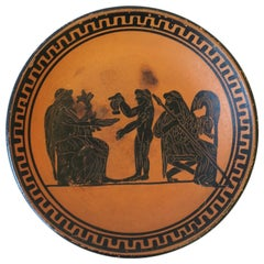 Greek Revival Relief Terracotta Plate or Jewelry Dish