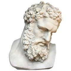 Greek Roman Style Hercules Bust Sculpture