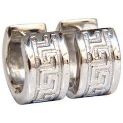 Greek Symbol Clip Earrings 14 Karat
