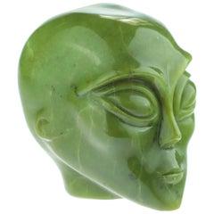 Green Alien Canadian Jade Strange Bold Extraterrestrial Sculpture