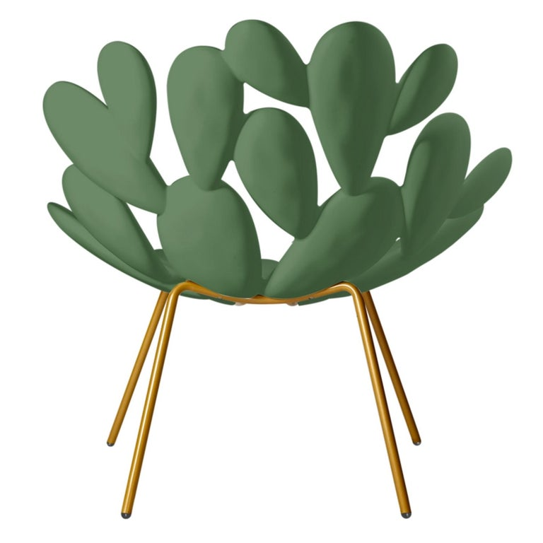 Italian In Stock in Los Angeles, Green Indoor / Outdoor Cactus Chair, Made in Italy For Sale