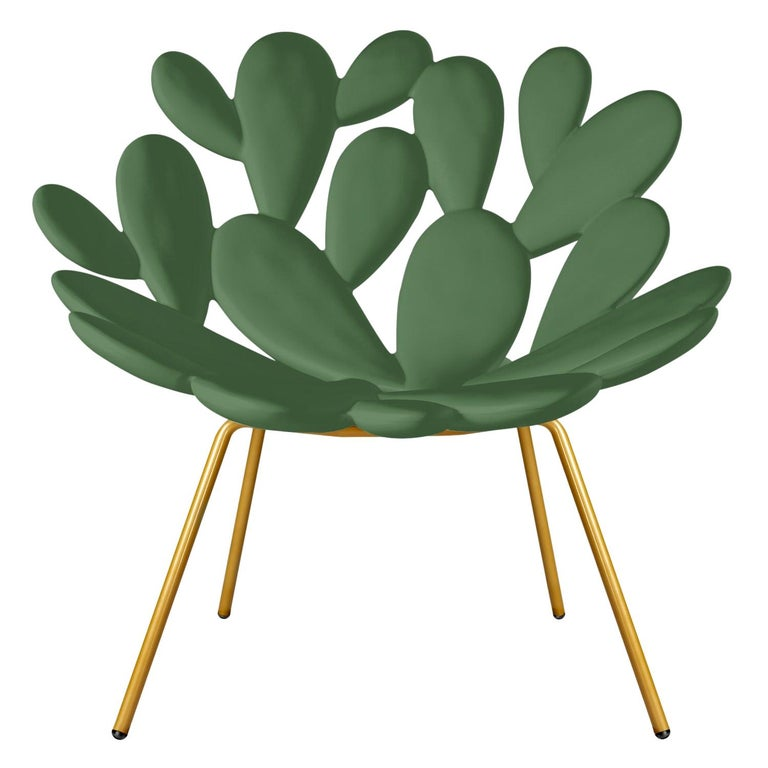 In Stock in Los Angeles, Green Indoor / Outdoor Cactus Chair, Made in Italy For Sale