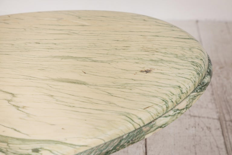 Green and White Oval Marble Cocktail Table 6
