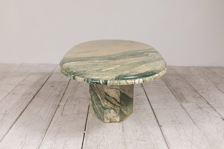 Green and White Oval Marble Cocktail Table 8