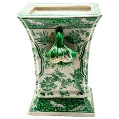 Green and White Porcelain Vase