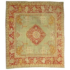 Green Antique Oushak Rug