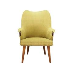 Green Armchair Vintage 1970s Danish Design Retro
