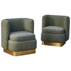 Green Armchairs by Studio Glustin