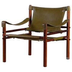 Green Arne Norell Easy Chair Model Sirocco, 1960s