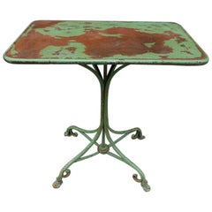 Green Arras Outdoor Table, France, circa 1890s