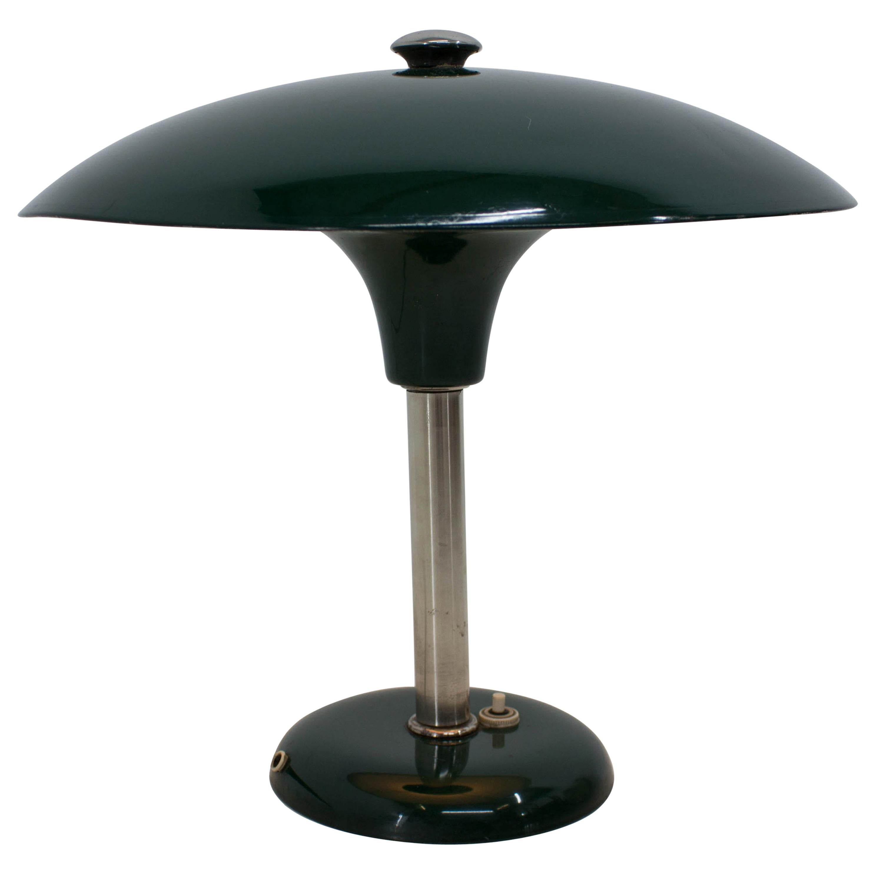 Green Art Deco Bauhaus Table Lamp by Max Schumacher, 1930s, Germany