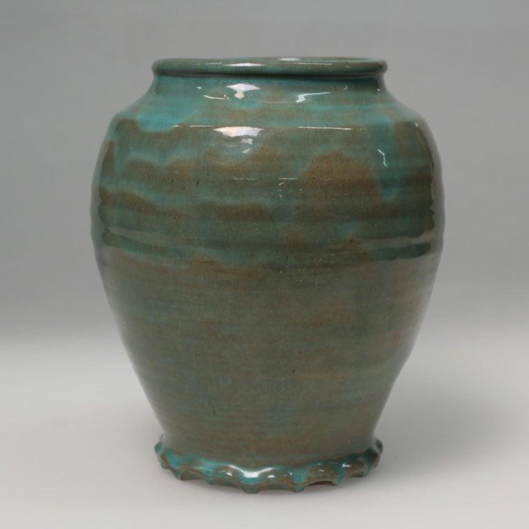 Dutch Green Art Deco Vase For Sale