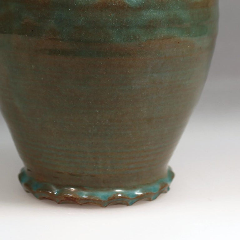 Green Art Deco Vase In Excellent Condition For Sale In Amsterdam, NL