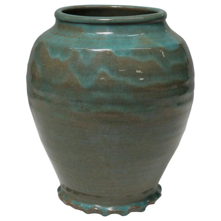 Green Art Deco Vase For Sale
