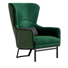 Green Bergère Armchair