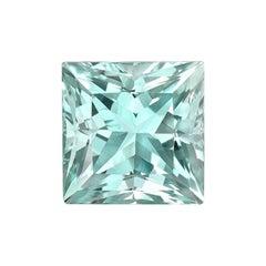 Green Blue Beryl Ring Gem Princess Cut 15.52 Carat Loose Unset Gemstone