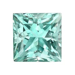 Green Beryl Ring Gem Princess Cut 15.52 Carat Unset Loose Gemstone