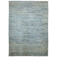 Green Blue Modern Moroccan Style Rug. Size: 9 ft 10 in x 13 ft 7 in