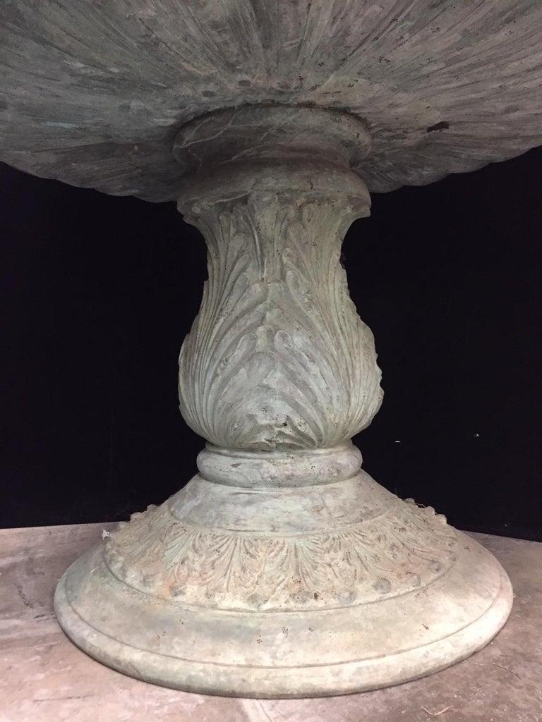 Green Bronze Figural Fountain For Sale 7