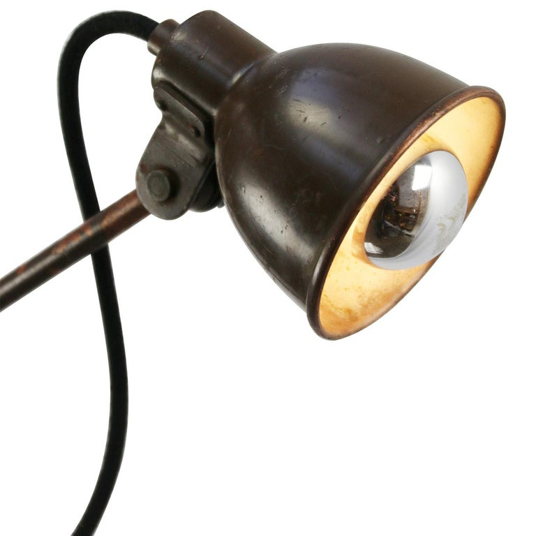 Green brown painted copper wall lights with switch Adjustable in height Measures: Diameter shade 10 cm / 3.94 inch.  E14  E14 bulb holder. Priced per individual item. All lamps have been made suitable by international standards for